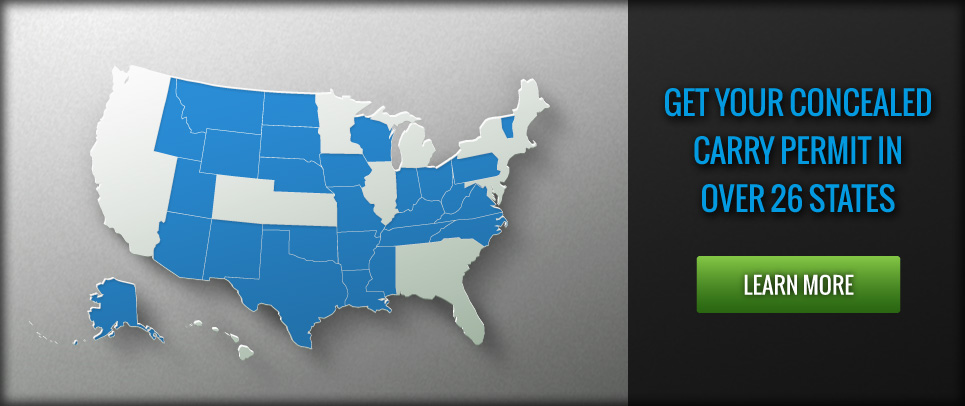 Get your concealed carry permit in Arizona, Colorado, Idaho, Iowa, Oregon, Virginia and several other states!