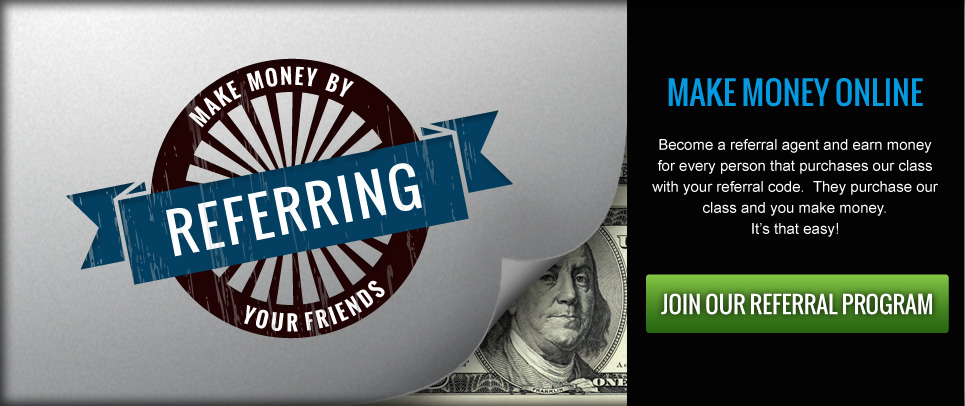 Make Money Online!  Join our referral program and share with your friends.